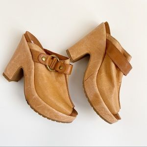 Lucky Brand Veronica Leather Clogs sz 7.5